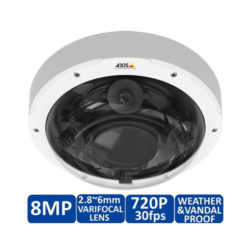 AXIS-P3707-PE-8MP-360-Degree-Multi-sensor-Dome-IP-Security-Camera-