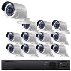 Bullet IP Security Camera System, 16 Camera