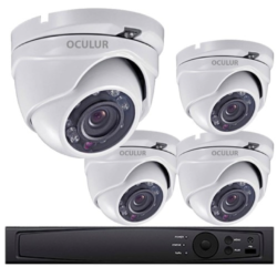 Turret CCTV Analog Security Camera System, 4 Camera