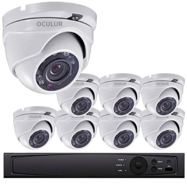 Turret CCTV Analog Security Camera System, 8 Camera
